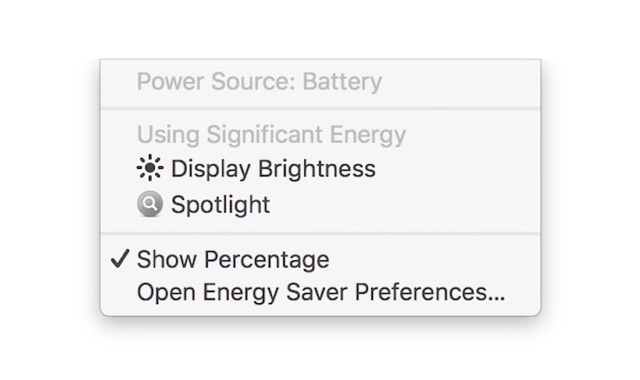 Apple's fourth beta of macOS Sierra 10.12.3 warns if display brightness affects MacBook battery life