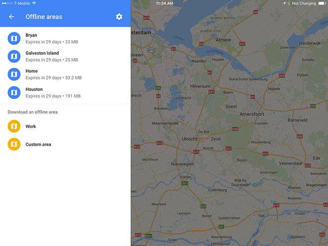 how to download offline maps on google maps on iphone