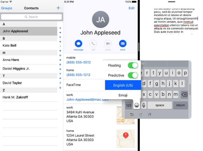 iOS 10.3 promises to limit review pop-ups, add floating one-handed keyboard on iPad