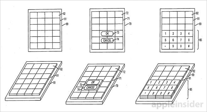 Apple získal patent na displej schopný změnit tvat