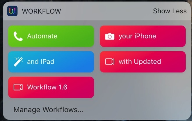 Apple acquires automation app Workflow, title to remain on App Store for free