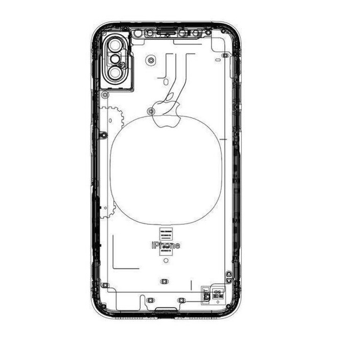 Alleged Iphone 8 Schematic Shows Wireless Charging Pad No Rear Touch Id on mac book pro parts